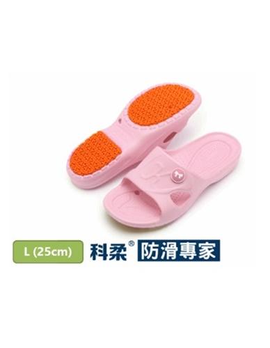 【科柔】女版止滑家居拖鞋 粉紅色 L號 適合腳底25cm